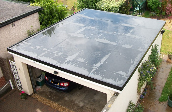 new flat garage rubber roof in dundee, tayside
